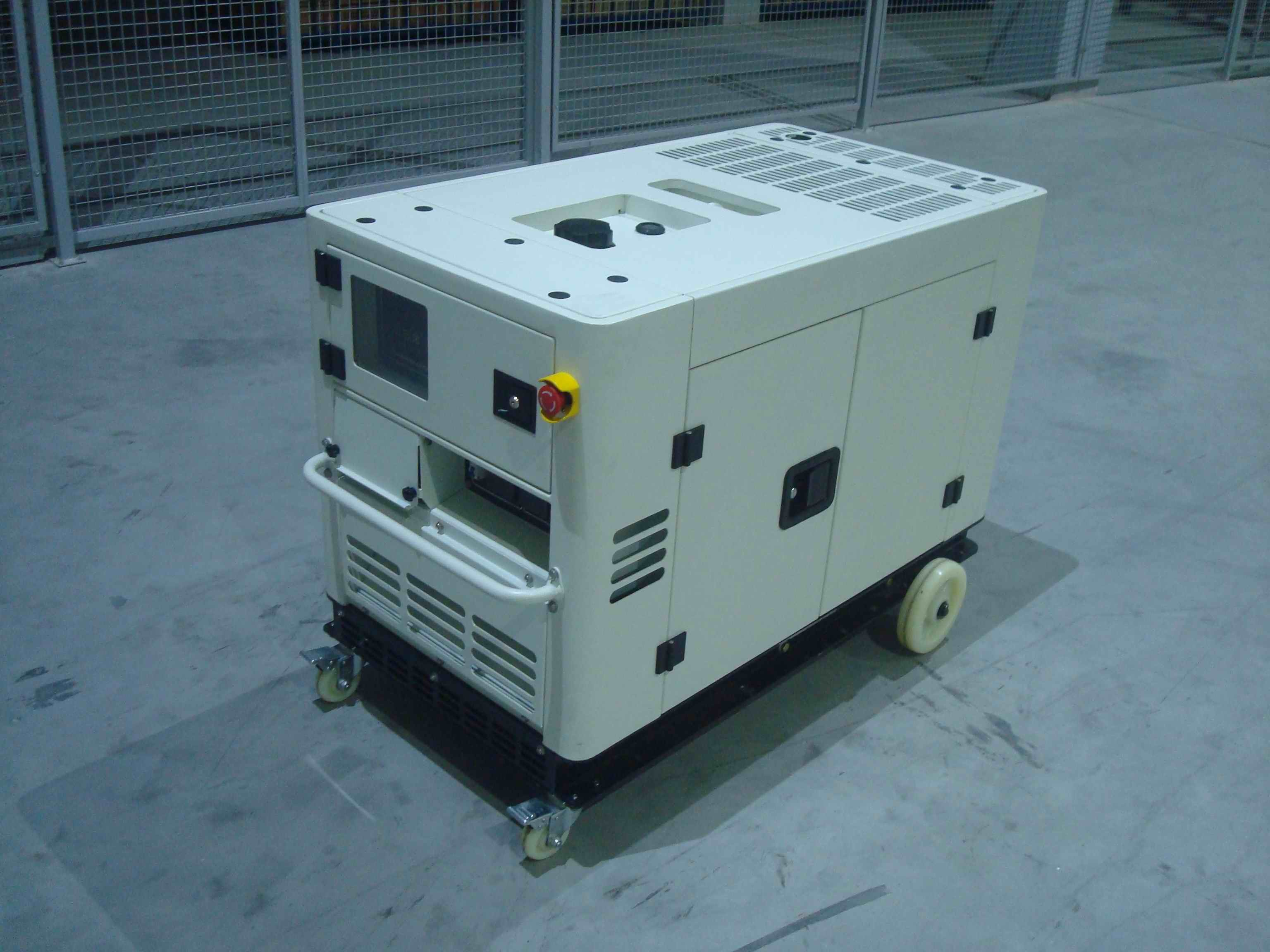Soundproof 10kva Small Portable Diesel Generator Open Type With Intelligent Panel